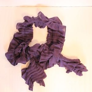 Express Purple Ruffled Scarf